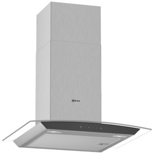 Neff D64AFM1N0B 60cm Curved Glass Chimney Hood – STAINLESS STEEL