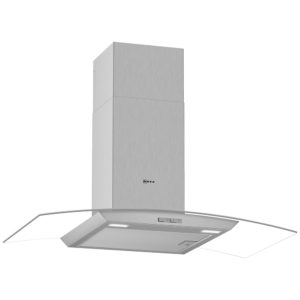 Neff D94ABC0N0B 90cm Curved Glass Chimney Hood – STAINLESS STEEL