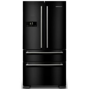 Rangemaster RDXD18BL/C French Style Fridge Freezer Non Ice & Water – BLACK