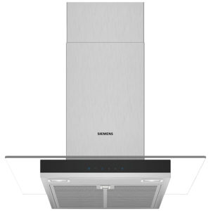 Siemens LC67GHM50B IQ-300 60cm Chimney Hood With Glass Canopy – STAINLESS STEEL