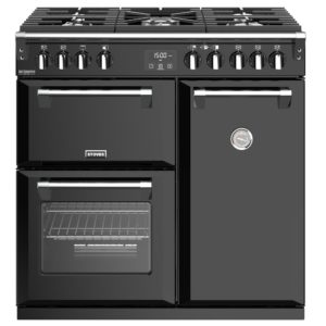 Stoves RICHMOND DX S900GBK 4903 Richmond Deluxe 90cm Gas Range Cooker – BLACK