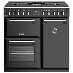 Stoves RICHMOND DX S900DFBK 4897 Richmond Deluxe 90cm Dual Fuel Cooker – BLACK