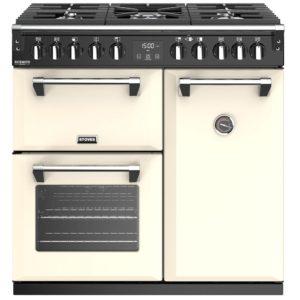 Stoves RICHMOND DX S900DFCC 4898 Richmond Deluxe 90cm Dual Fuel Cooker – CREAM