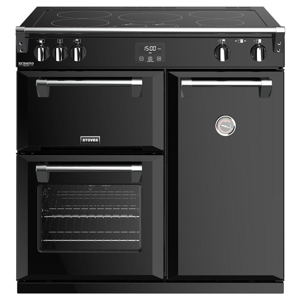 Stoves RICHMOND DX S900EIBK 4905 Richmond Deluxe 90cm Induction Range Cooker - BLACK