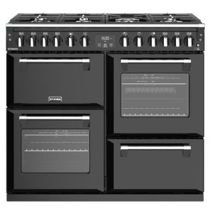 Stoves RICHMOND S1000DFBK 4451 Richmond 1000mm Dual Fuel Cooker – BLACK