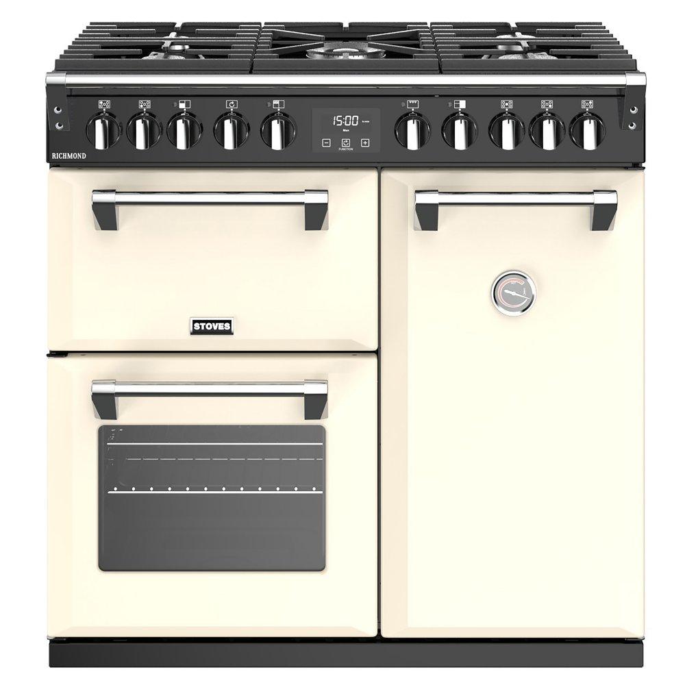 Stoves RICHMOND S900DFCC 4436 Richmond 90cm Dual Fuel Range Cooker - CREAM