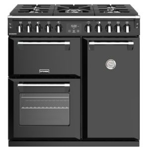 Stoves RICHMOND S900DFBK 4435 Richmond 90cm Dual Fuel Cooker – BLACK