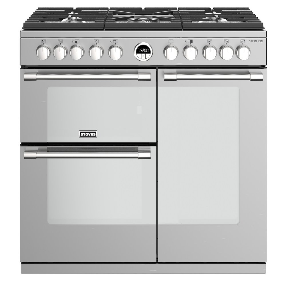 Stoves STERLING S900DFSS 4482 Sterling 90cm Dual Fuel Range Cooker - STAINLESS STEEL