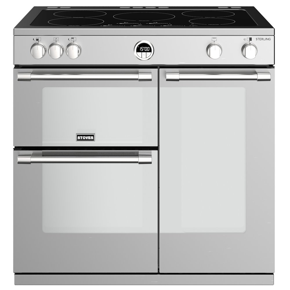 Stoves STERLING S900EISS 4488 Sterling 90cm Induction Range Cooker - STAINLESS STEEL