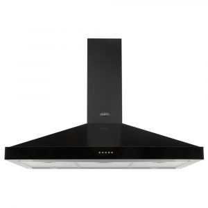Belling FARMHOUSE90CHIMBLK 90cm Chimney Hood – BLACK