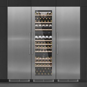 Caple WC1791 PACK Integrated Wine Cooler Fridge And Freezer Pack – STAINLESS STEEL