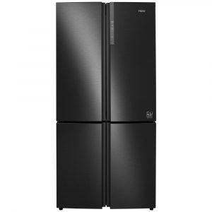 Haier HTF-610DSN7 Cube Series American Style Four Door Fridge Freezer Non Ice & Water – BLACK