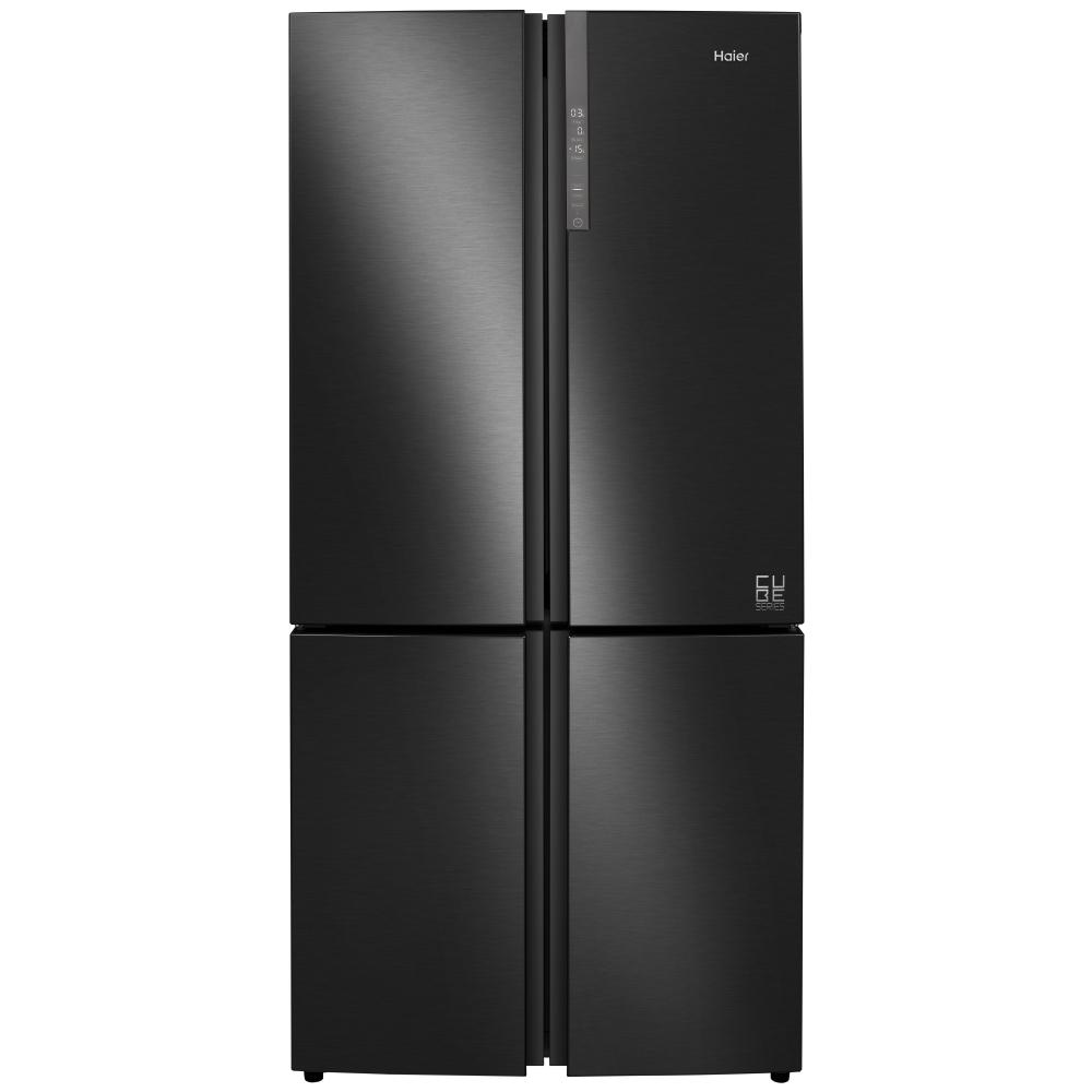 Haier HTF-610DSN7 Cube Series American Style Four Door Fridge Freezer Non Ice & Water - BLACK