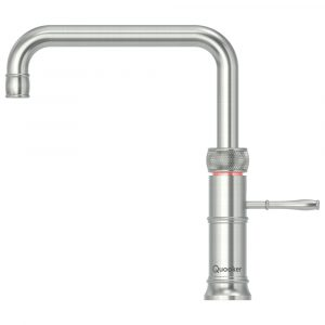 Quooker PRO3 CLASSIC FUSION SQUARE SS 3CFSRVS Classic Square Fusion 3-in-1 Boiling Water Tap – STAINLESS STEEL
