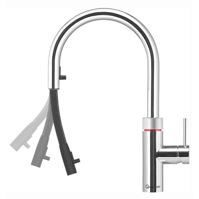 Quooker Tap Price >> Quooker Pro3 Flex Rvs 3xrvs Flex 3 In 1 Boiling Water Tap Stainless Steel