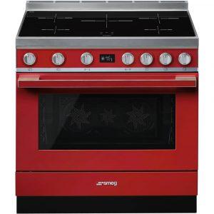 Smeg CPF9IPR 90cm Portofino Pyrolytic Induction Range Cooker – RED