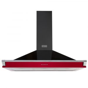 Stoves S1000RICHCHIMRAILHJA 100cm Chimney Hood With Rail – RED