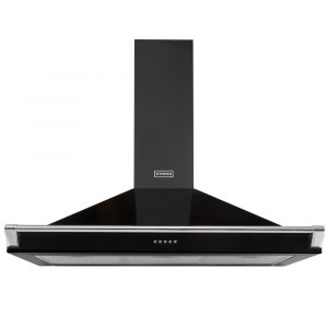 Stoves S1100RICHCHIMRAILBLK 110cm Chimney Hood With Rail – BLACK