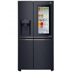 LG GSX960MTAZ Instaview Door In Door American Style Fridge Freezer With Ice & Water – BLACK STEEL