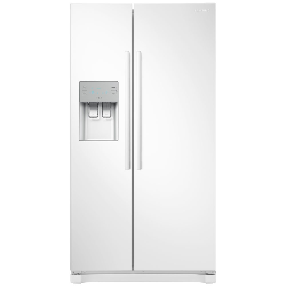 Samsung RS50N3513WW American Style RS3000 Fridge Freezer With Ice & Water - WHITE