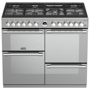 Stoves STERLING DX S1000DFSS 4942 Sterling Deluxe 100cm Dual Fuel Range Cooker – STAINLESS STEEL