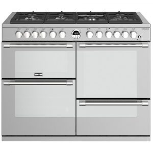 Stoves STERLING DX S1100DFSS 4952 Sterling Deluxe 110cm Dual Fuel Range Cooker – STAINLESS STEEL