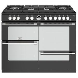 Stoves STERLING DX S1100GBK 4955 Sterling Deluxe 110cm Gas Range Cooker – BLACK