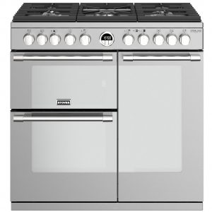 Stoves STERLING DX S900DFSS 4932 Sterling Deluxe 90cm Dual Fuel Range Cooker – STAINLESS STEEL