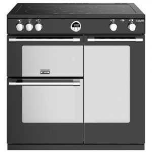Stoves STERLING DX S900EIBK 4939 Sterling Deluxe 90cm Induction Range Cooker – BLACK