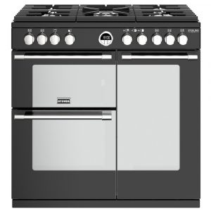 Stoves STERLING DX S900GBK 4935 Sterling Deluxe 90cm Gas Range Cooker – BLACK