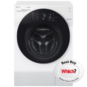LG FH6G1BCH2N 12kg/8kg Direct Drive TrueSteam Washer Dryer 1600rpm – WHITE