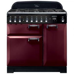 Rangemaster ELA90DFFCY/ Elan Deluxe 90cm Dual Fuel Range Cooker 118130 – CRANBERRY
