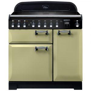 Rangemaster ELA90EIOG/ Elan Deluxe 90cm Induction Range Cooker 118440 – OLIVE GREEN
