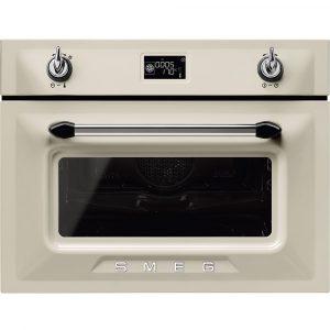 Smeg SF4920MCP1 Victoria Built In Combination Microwave – CREAM