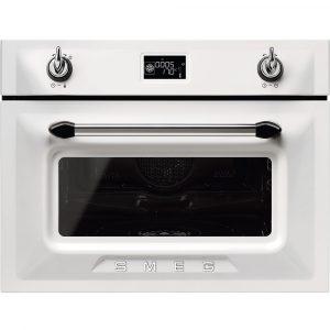 Smeg SF4920VCB1 45cm High Compact Victoria Steam Combination Oven – WHITE