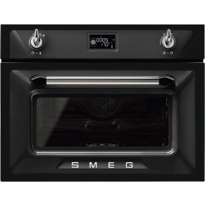 Smeg SF4920VCN1 45cm High Compact Victoria Steam Combination Oven – BLACK