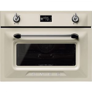 Smeg SF4920VCP1 45cm High Compact Victoria Steam Combination Oven – CREAM