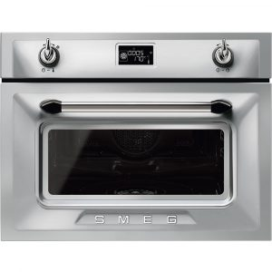 Smeg SF4920VCX1 45cm High Compact Victoria Steam Combination Oven – STAINLESS STEEL