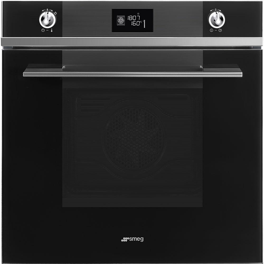 Graded Smeg SFP6102TVN 60cm Black `Linea` Pyrolytic Single Oven (JUB-22340)