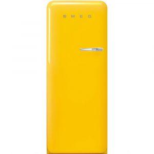Smeg FAB28LYW3UK 60cm Retro Refrigerator Left Hand Hinge – YELLOW