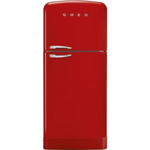 Smeg FAB50RRD 80cm Retro Top Mount Frost Free Fridge Freezer – RED