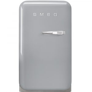 Smeg FAB5LSV Silver Retro Mini Bar Fridge Left Hand Hinge – SILVER