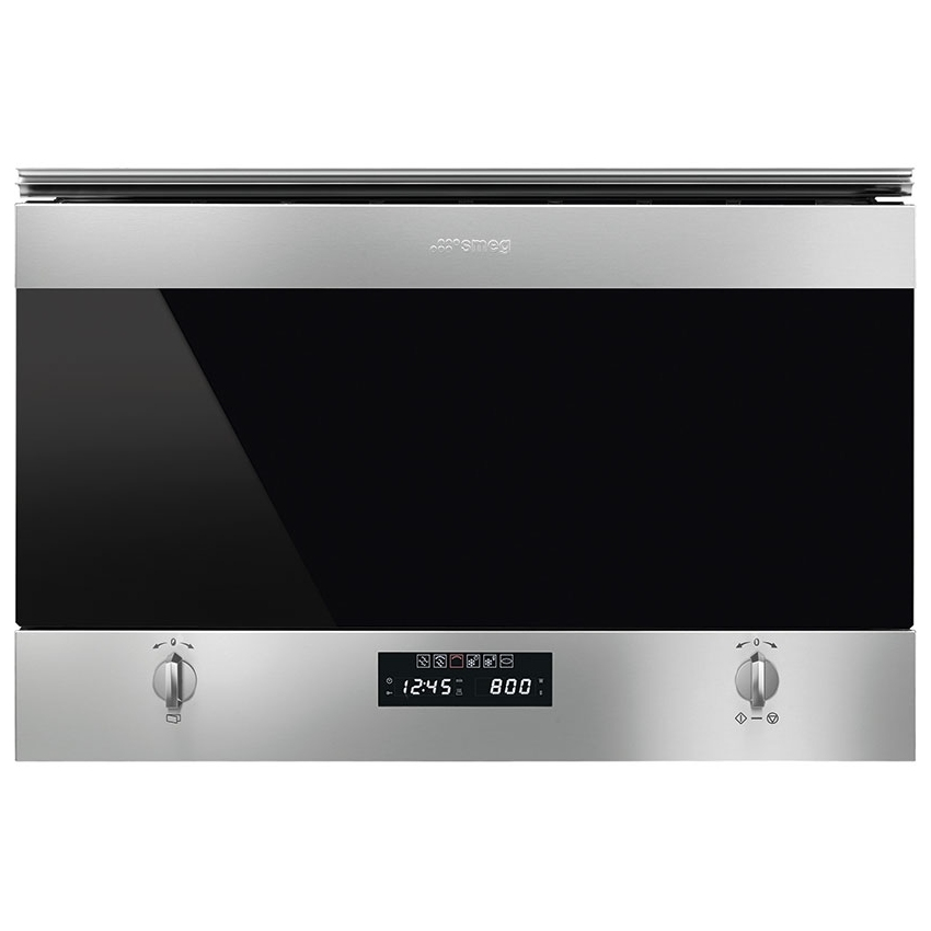 Smeg MP322X1 Classic Built In Microwave & Grill For Wall Unit - STAINLESS STEEL