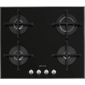 Smeg PV164N2 60cm Linea 4 Burner Gas On Glass Hob – BLACK