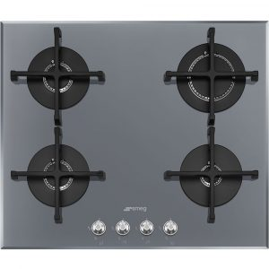 Smeg PV164S2 60cm Linea 4 Burner Gas On Glass Hob – SILVER