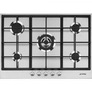 Smeg PX175 73cm Linea 5 Burner Gas Hob – STAINLESS STEEL