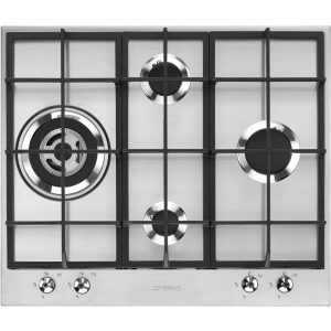 Smeg PX364L 60cm Classic 4 Burner Gas Hob – STAINLESS STEEL