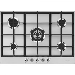 Smeg PX375 73cm Classic 5 Burner Gas Hob – STAINLESS STEEL