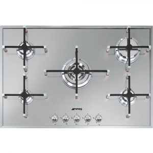 Smeg PX7502 74cm Linea Ultra Low Profile 5 Burner Gas Hob – STAINLESS STEEL
