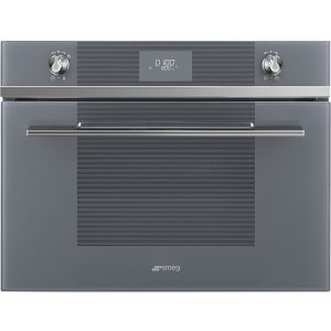 Smeg SF4101MS Linea Built In Microwave & Grill – SILVER